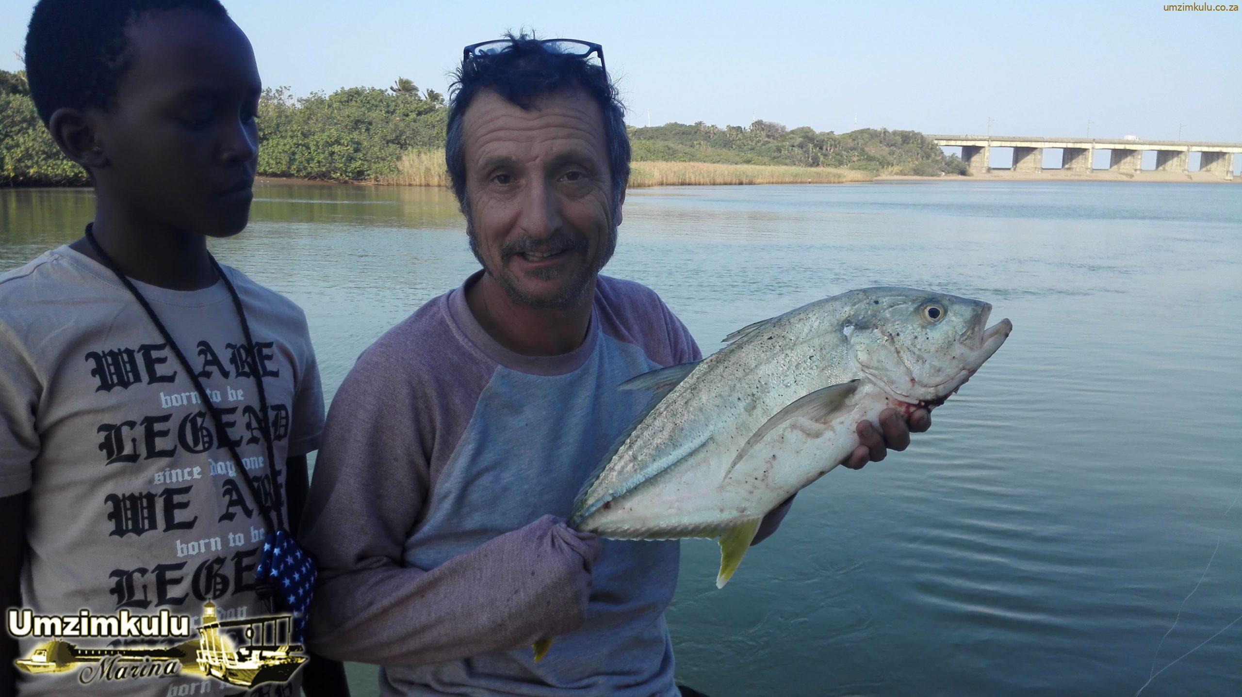 Victor and Sean Blacktip Kingfish at Fishing School 2020 in the Umzimkulu